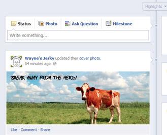 facebook cover status