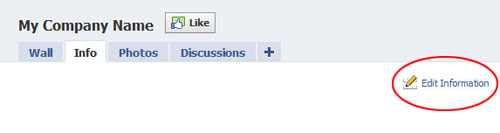 facebook edit info