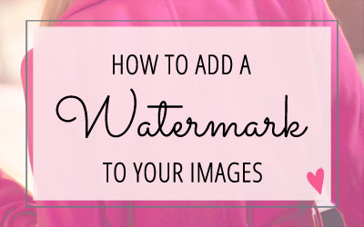 Adding a Watermark to your Images