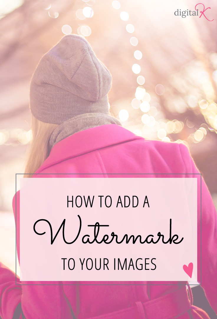 Instructions for adding a watermark to your images
