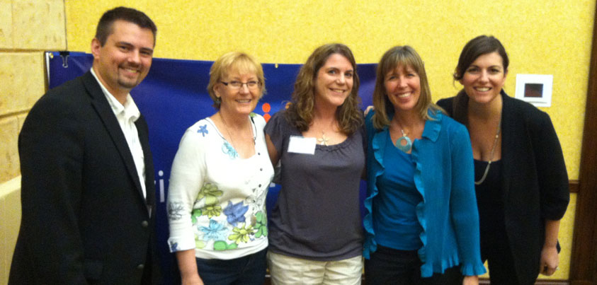 Isaac A. Wardell, Phyllis Khare, Kelly Ward, Andrea Vahl, and Amy Porterfield