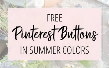 Free Pinterest Buttons in Summer Colors