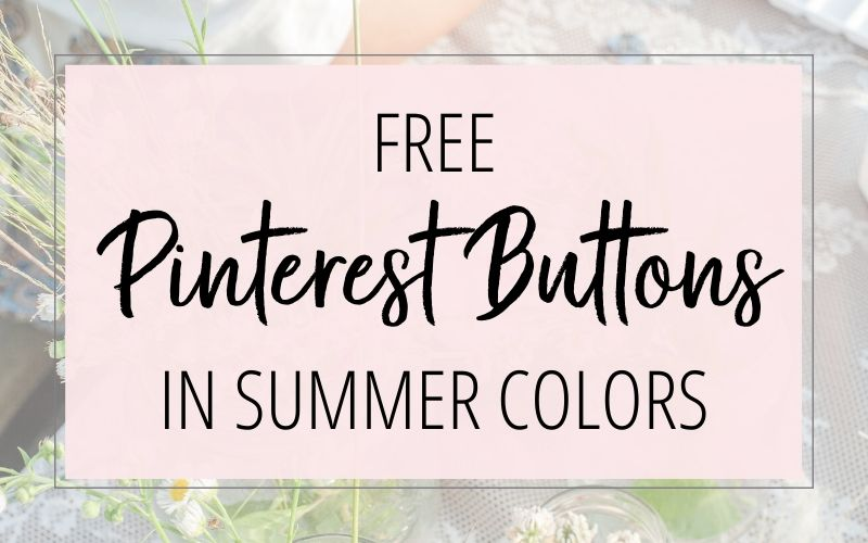 Free Pinterest Button In Summer Colors