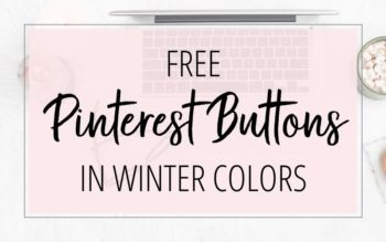 FREE PINTEREST BUTTONS IN WINTER COLORS