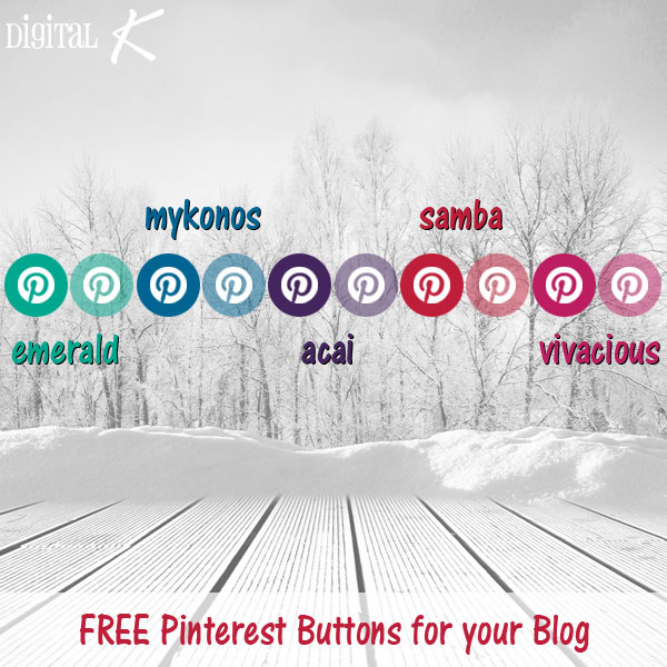 Free Pinterest Buttons - Winter 2014 Colors