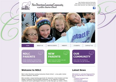 Charter School Website Design