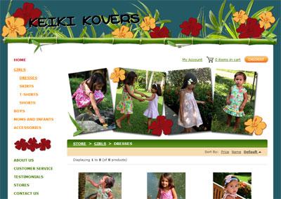 Children's Apparel eCommerce Website