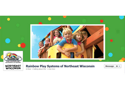 Rainbow Play Systems Facebook Branding