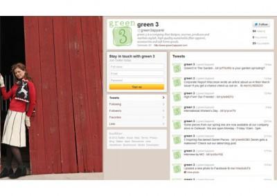 Green 3 Twitter Branding