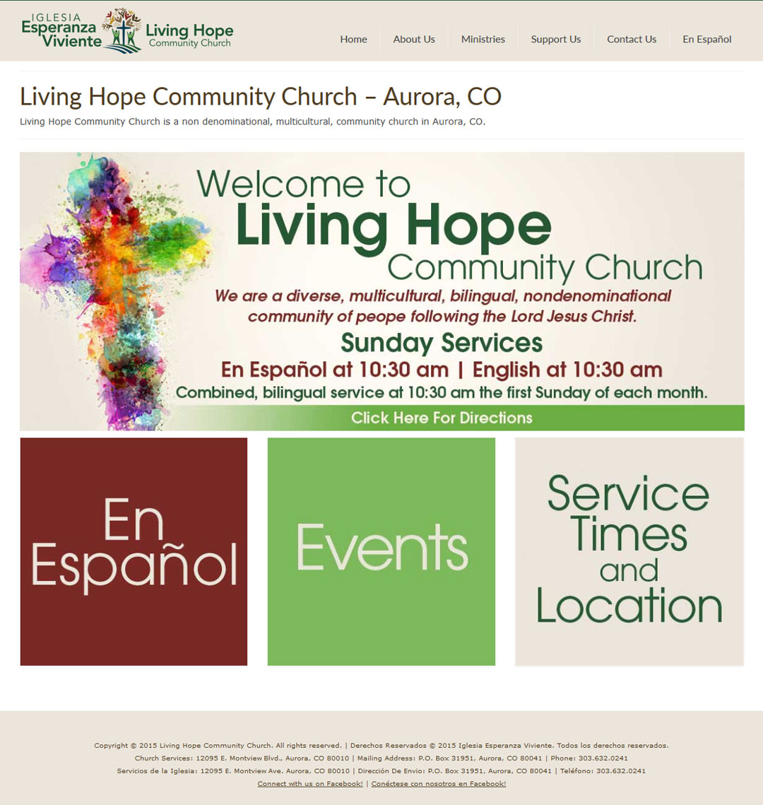 Church Website Redesign: Living Hope Community Church