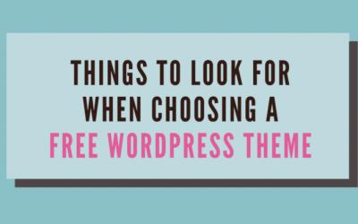 How to Choose a Free WordPress Theme