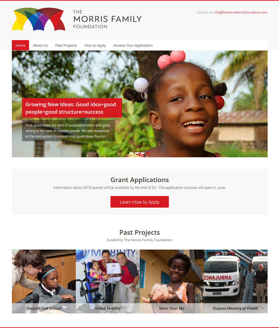Education Foundation Website Design