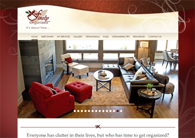 Professional Organizer Website Design