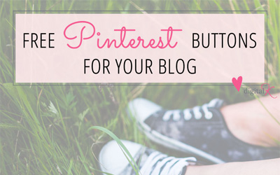 Free Pinterest Buttons in Spring Colors