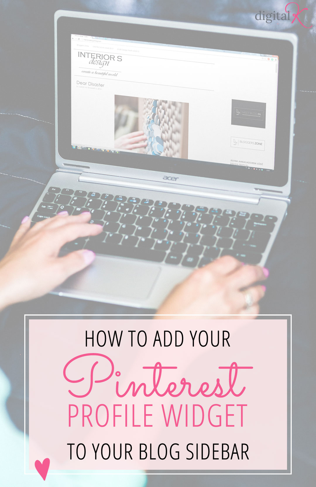 How to add your Pinterest Profile Widget to your Blog's Sidebar. Includes instructions for both Wordpress and Blogger!