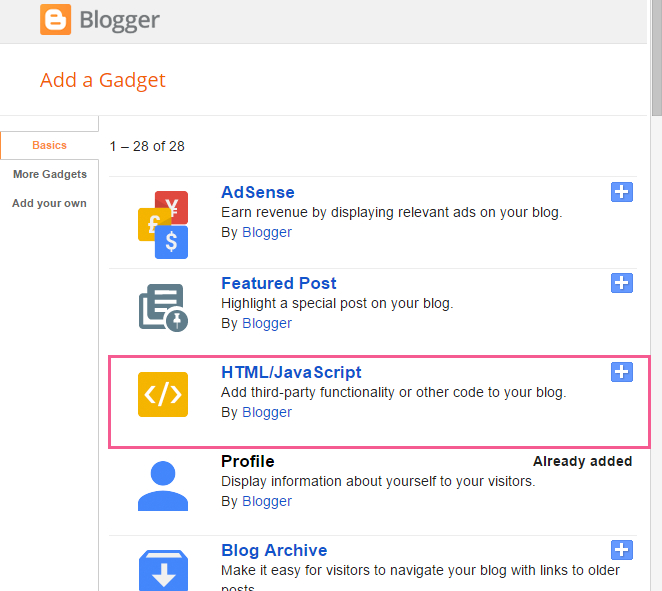 How to Add your Pinterest Profile to your Blogger Sidebar