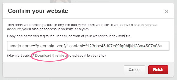 How to Confirm Your Website or Blog on Pinterest