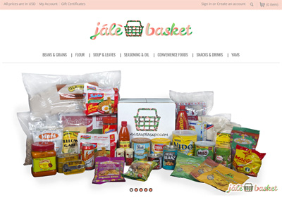 Food Industry eCommerce Website