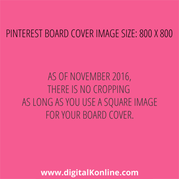 Template for the new Pinterest Board Covers (Updated November 2016)