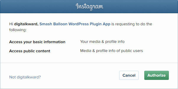 Connect your Instagram Account to the Instagram Feed WordPress Plugin