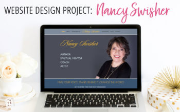 Website Design Project for Author and Coach, Nancy Swisher