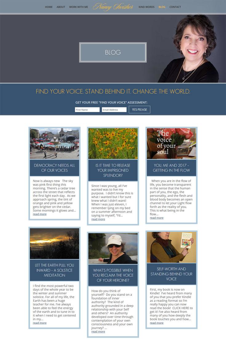Nancy Swisher Blog