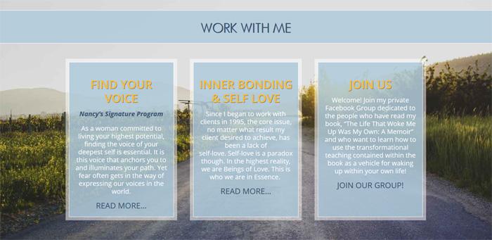Website goal: feature programs