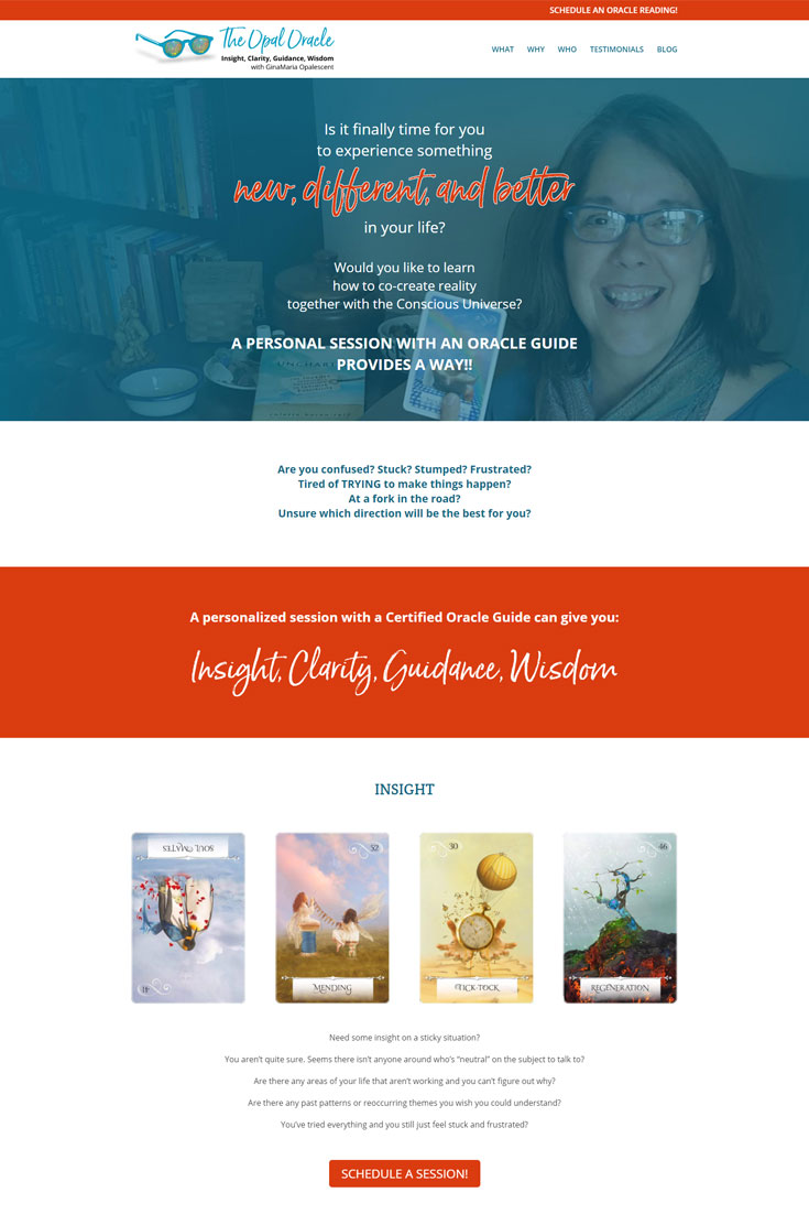 Website Design for Oracle Guide