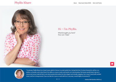 Author and Consultant Website Design