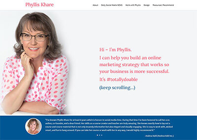 Phyllis Khare Website Design and Branding