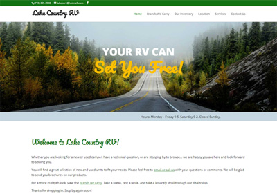 RV Dealer Website Design