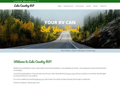 RV Dealer Website Design