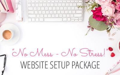 No Mess No Stress WordPress Website Setup