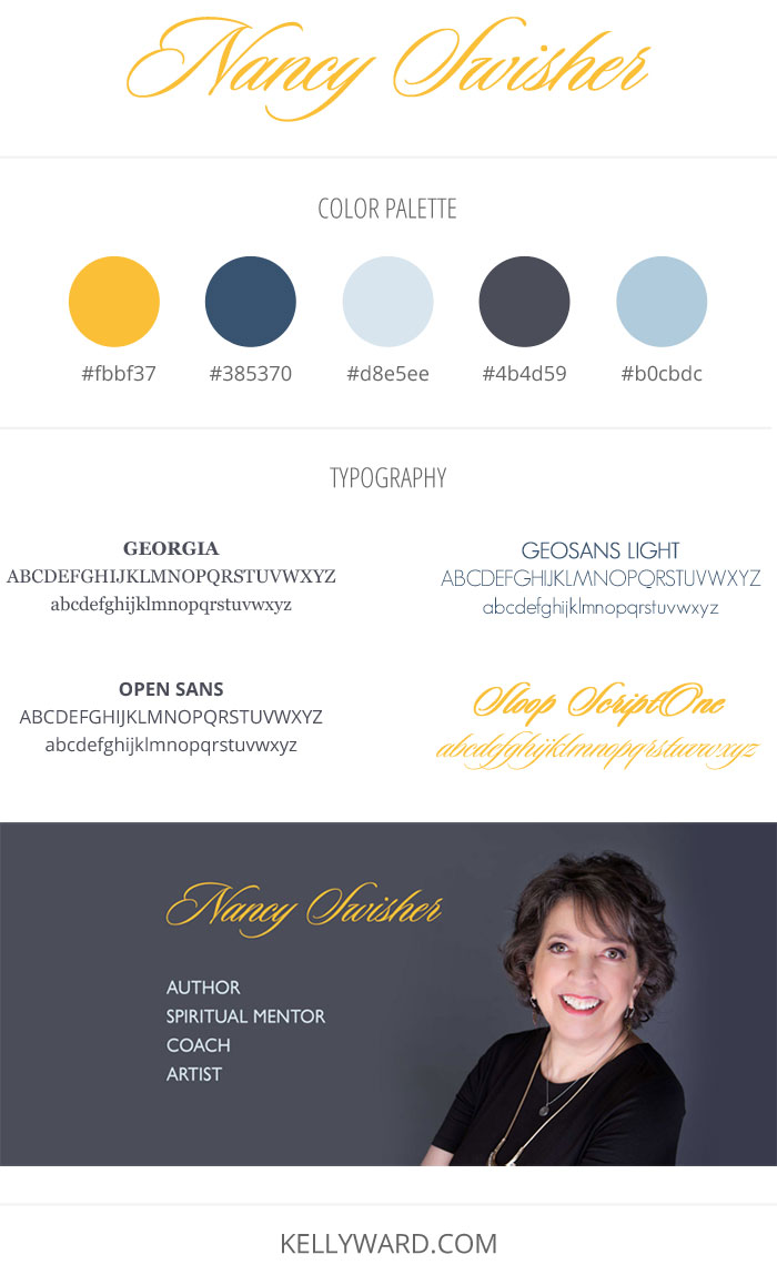 Website Style Guide for Nancy Swisher