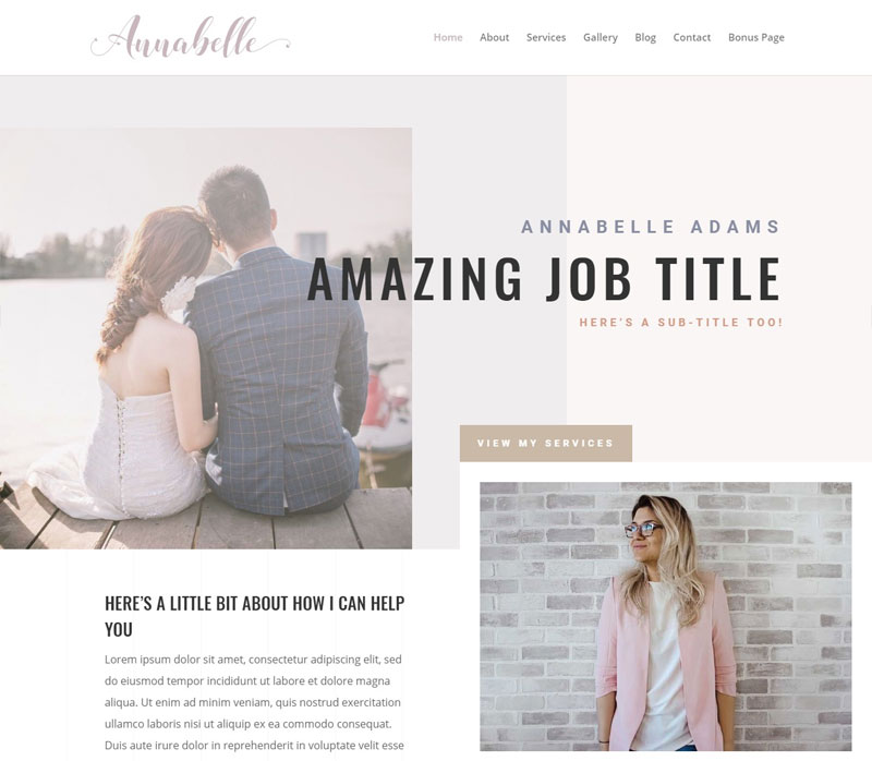 Customizable Website: Annabelle