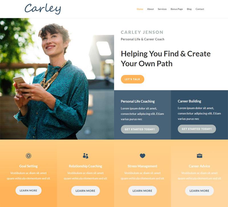 Customizable Website: Carley