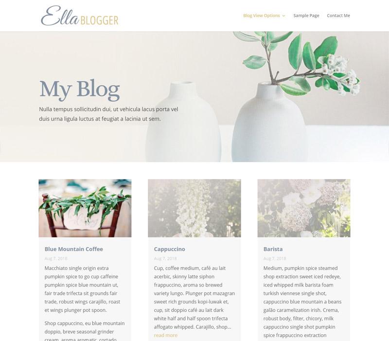 Customizable Website: Ella