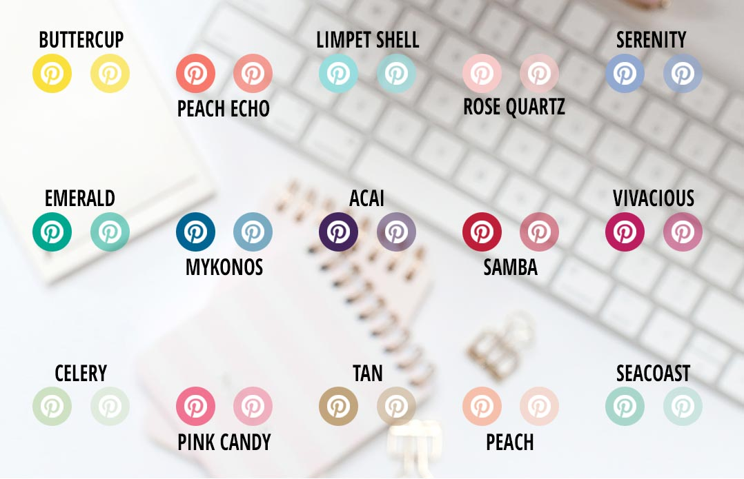 30 Free Pinterest Buttons for your Blog or Website